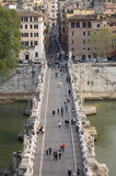 Aerial view of the bridge of San Angelo Royalty Free Stock Photo