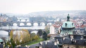 Bridges of Prague, Czech Republic stock images