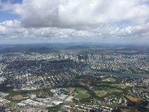 Aerial view Brisbane city Royalty Free Stock Photography