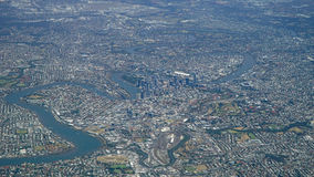 Aerial View of Brisbane City and Environs Queensland Australia Stock Photography