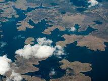 Aerial View of Brisbane Harbor Headlands and Delta Stock Photo