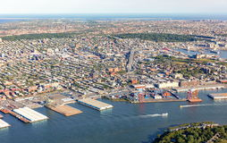 Aerial view of Brooklyn New York City Royalty Free Stock Image
