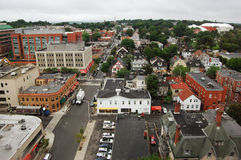 Aerial view of Brown University Stock Image