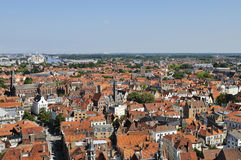 Aerial view on Bruges Royalty Free Stock Images