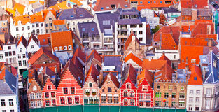 Aerial View of Bruges Stock Images