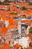 Aerial View of Bruges Stock Image
