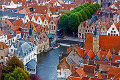 Aerial view of Bruges from Belfry, Belgium 2 Royalty Free Stock Image