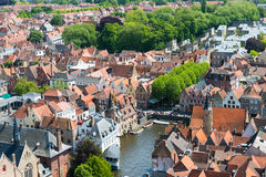 Aerial view of Bruges (Brugge) from Belfry Royalty Free Stock Photos
