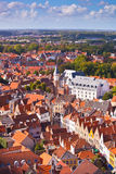 Aerial View of Bruges Royalty Free Stock Photos