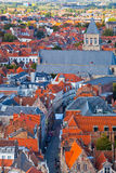 Aerial View of Bruges Royalty Free Stock Images