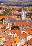 Aerial View of Bruges Stock Photos