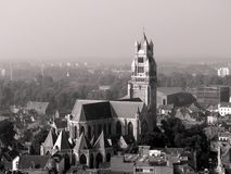 Aerial view of Brugge. Brugge aerial view, Belgium, UNESCO World Heritage Site Royalty Free Stock Images