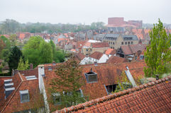 Aerial view of Brugge Royalty Free Stock Photography