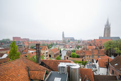 Aerial view of Brugge Royalty Free Stock Images
