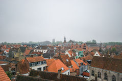 Aerial view of Brugge Stock Image