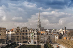 Aerial view of Brussels, Belgium Royalty Free Stock Image