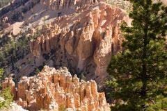 Aerial View of Bryce Canyon. National Park royalty free stock photography