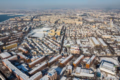 Aerial view from Bucharest Royalty Free Stock Photos