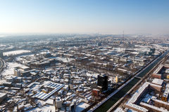 Aerial view from Bucharest Stock Photography