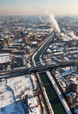 Aerial view from Bucharest Stock Images