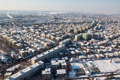 Aerial view from Bucharest Royalty Free Stock Photography
