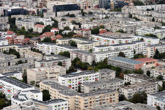 Aerial view of Bucharest city Stock Image