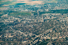 Aerial View Of Bucharest City Royalty Free Stock Photos