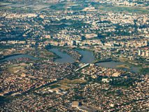 Aerial View Of Bucharest City Stock Photography