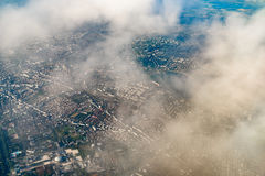 Aerial View Of Bucharest City Royalty Free Stock Photo