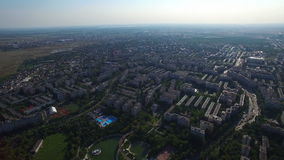 Aerial view of Bucharest, Moghioros park, Romania. Hd video stock video footage