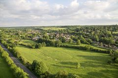 Aerial view of Buckinghamshire Landscape Royalty Free Stock Photo