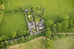 Aerial view of Buckinghamshire Landscape Stock Photography
