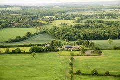 Aerial view of Buckinghamshire Landscape Royalty Free Stock Image