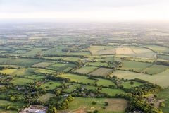 Aerial view of Buckinghamshire Landscape Royalty Free Stock Images