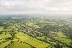 Aerial view of Buckinghamshire Landscape Stock Photos