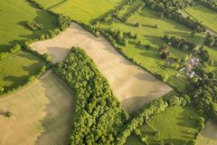 Aerial view of Buckinghamshire Landscape Stock Photo