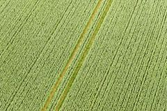 Aerial view of Buckinghamshire Landscape Stock Image