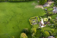 Aerial view of Buckinghamshire Landscape Royalty Free Stock Photos