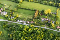 Aerial view of Buckinghamshire Landscape Royalty Free Stock Photography