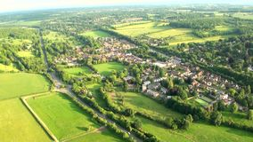 Aerial view of Buckinghamshire Landscape stock video footage