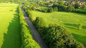 Aerial view of Buckinghamshire Landscape stock video