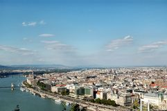 Aerial view of Budapest Royalty Free Stock Photo