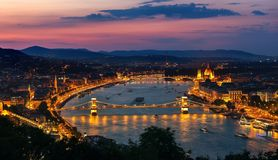 Aerial view of Budapest royalty free stock images