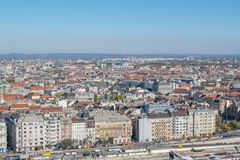 Aerial view on Budapest city Royalty Free Stock Photos