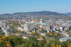 Aerial view on Budapest city Stock Images