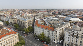 Aerial view of Budapest city Stock Photos