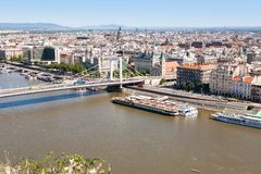Aerial view on Budapest Royalty Free Stock Photography