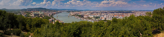 Aerial view of Budapest Stock Photos