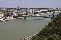 Aerial view of Budapest Royalty Free Stock Photos