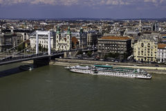 Aerial view of Budapest Stock Photo